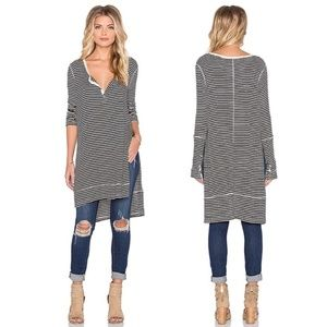 We The Free Gwen Henley Striped Tunic